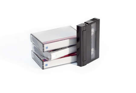 videocassette: Video cassette with cases isolated