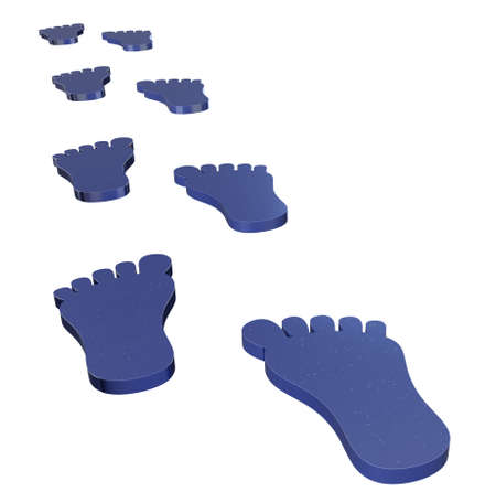 Toon footsteps isolated on white 3d model Zdjęcie Seryjne