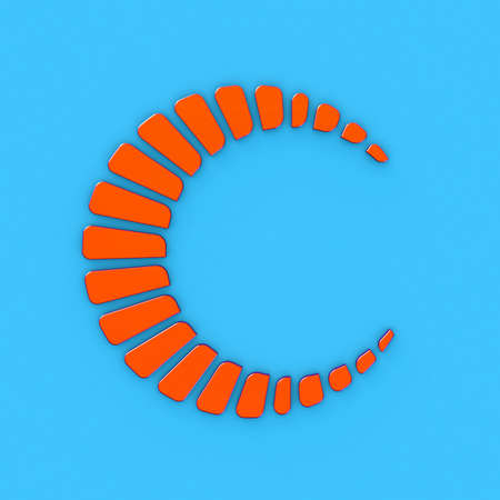 Abstract cicle orange logo style 3d model Stock Photo