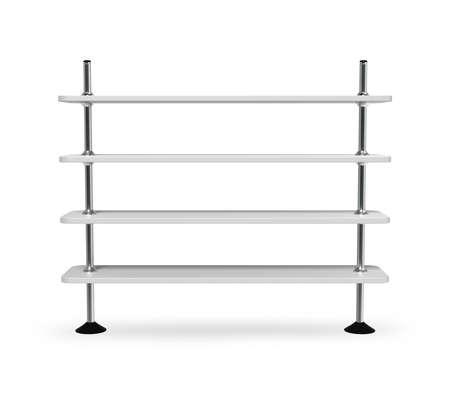 simple bookshelf isolated on white 3d model Zdjęcie Seryjne