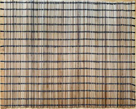 Wicker wooden napkin background texture. Zdjęcie Seryjne