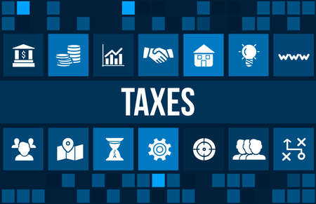 exemption: Budget concept image with business icons and copyspace.