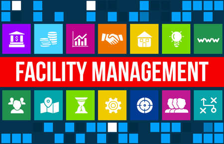 Facility management concept image with business icons and copyspace. Stock fotó - 44464178