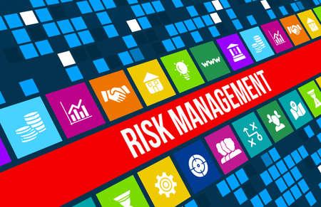 Image concept de gestion des risques avec des icônes d'affaires et copyspace. Banque d'images - 44464210