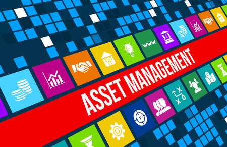 Asset management concept image with business icons and copyspace. 版權商用圖片 - 44464239