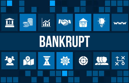 creditors: Business concept image with business icons and copyspace.