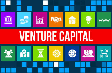 Venture Capital  concept image with business icons and copyspace. Archivio Fotografico