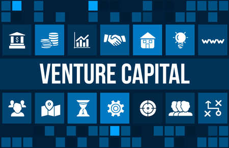 ownership equity: Venture Capital  concept image with business icons and copyspace. Stock Photo