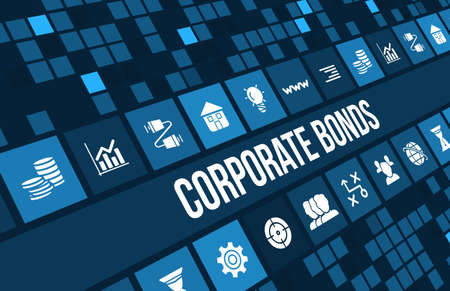 bonds: Corporate Bonds concept image with business icons and copyspace.