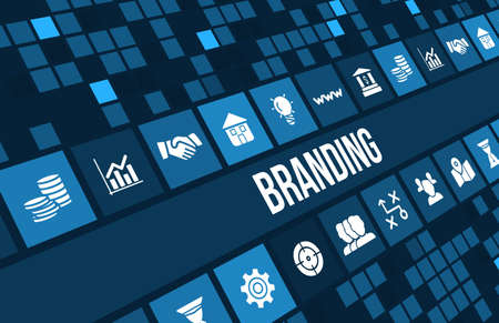 Branding  concept image with business icons and copyspace. 版權商用圖片 - 44898181