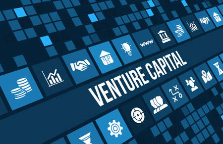 Venture Capital  concept image with business icons and copyspace. Stock Photo