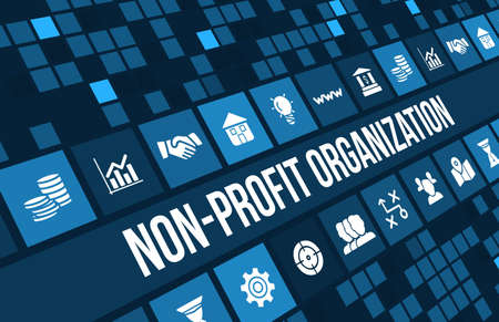 Non-profit organization  concept image with business icons and copyspace. 版權商用圖片 - 44898700