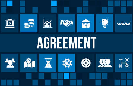 stockholder: Agreement concept image with business icons and copyspace.