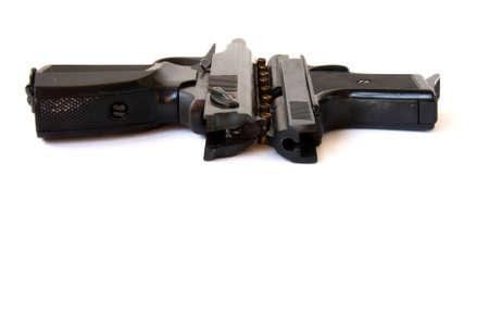 Two black guns   photo