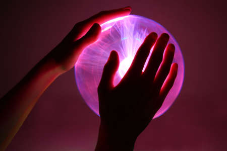 heat radiation: plasma ball  Stock Photo