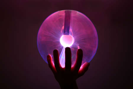 electrocute: plasma ball  Stock Photo