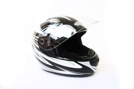 motorcycle accidents: motorbike helmet isolated on a white background