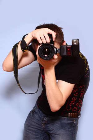 Photographer with camera photo