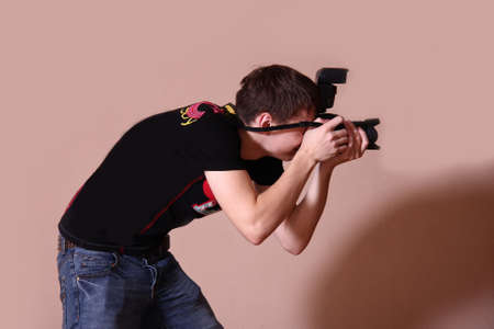 Photographer with camera Stock Photo - 3894630