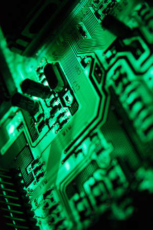 Green PCB on the light Stock Photo - 8910075