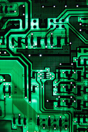 Green PCB on the light Stock Photo - 8910082