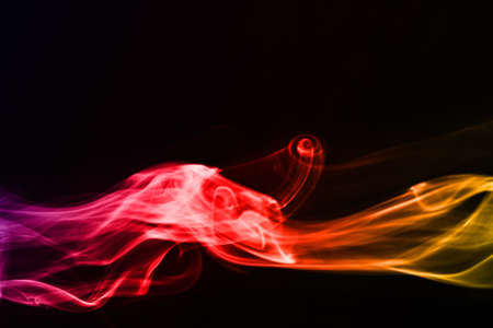 The abstract smoke on the dark background Stock Photo - 9068707
