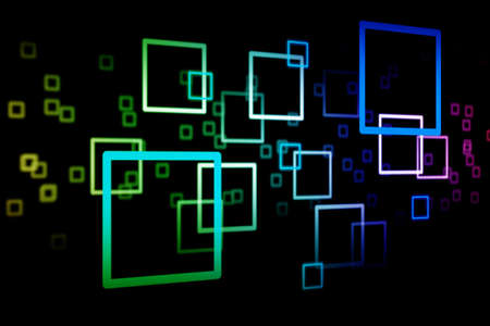 the square colour on the dark background, abstract background Stock Photo - 9232074