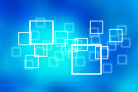 the square on the blue background, abstract background Stock Photo - 9232075