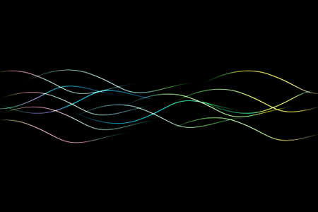 the light wave on the dark background, abstract background Stock Photo - 9279059