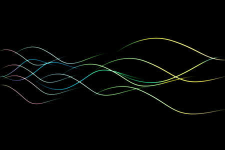 the light wave on the dark background, abstract background Stock Photo - 9279060