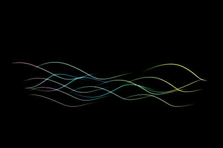 the light wave on the dark background, abstract background Stock Photo - 9279058
