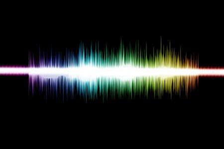 vibrations: Soundwave Digital Graphic as background Abstract Stock Photo