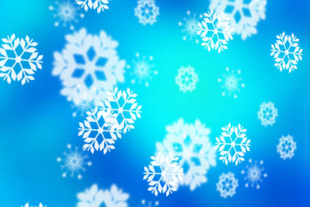 snowflakes as blue background photo