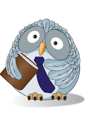 An owl in Teacher style