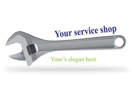 repair shop: Logo design  for auto service shop Illustration