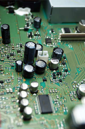 PCB circuit board with components Stock Photo - 15124321