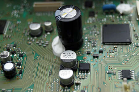 printed circuit board: PCB circuit board with components