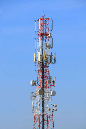 Red and White of radio tower