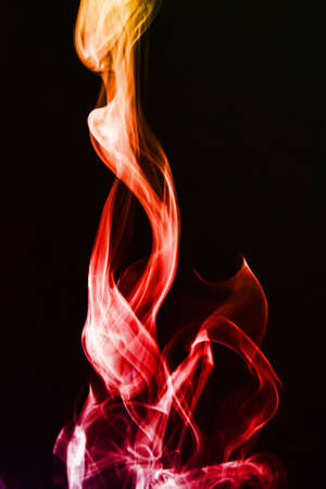 The abstract smoke on the dark background Stock Photo