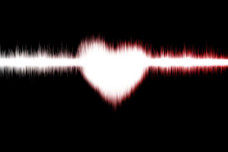 pulsing: Sound wave Digital Graphic as background Abstract Stock Photo