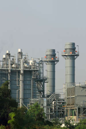 Part of Chemical Plant Stock Photo