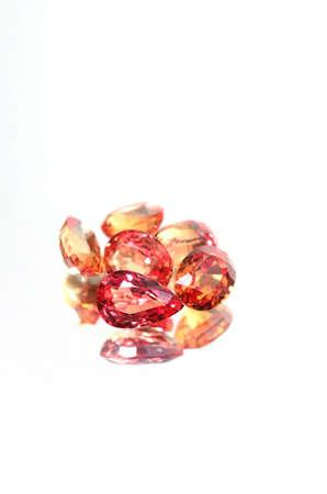 Group of Gemstones on mirror