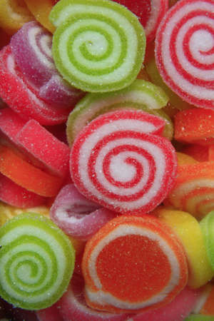 delicious colorful sugar jelly sweets