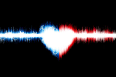 Sound wave Digital Graphic as background Abstract Stock Photo - 23323528