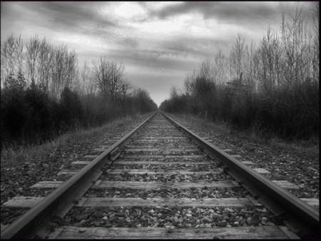 days gone by: Abandoned rails, Pickering Ontario Stock Photo