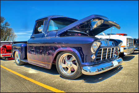 pick: 1956 Chevrolet Pick up Editorial