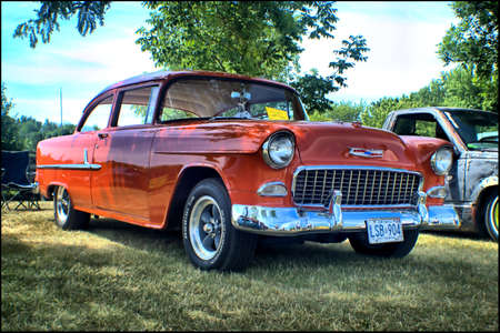 1955 年シボレー 写真素材 - 80740334