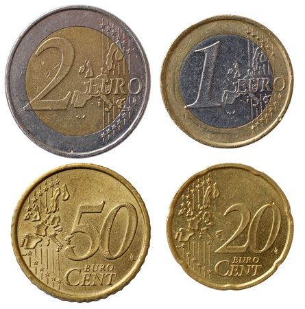 2 50: Full set of euro coins in high resolution - part 1