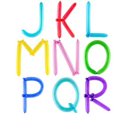 Full alphabet made of color twisted balloons � letters � part 2