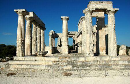 Tempio di Afaia (Britomarti) a su Aegina island, Grecia. Archivio Fotografico - 3232601
